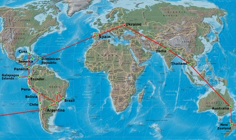 Открытки с мест путешествия